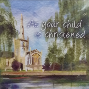 As your child is Christened card